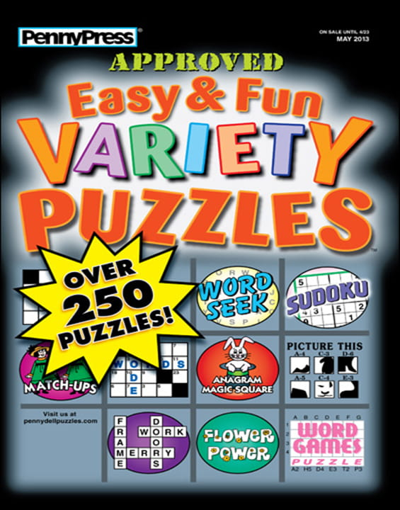 Approved Easy & Fun Variety Puzzles